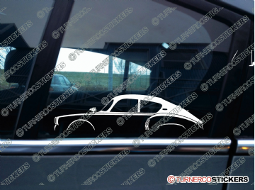2x Car Silhouette sticker -  Alpine A106 , 1955-1961 classic french car